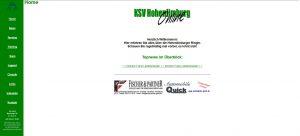 KSV-Website im April 2001
