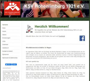 KSV-Website im Januar 2020