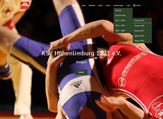 KSV-Website im Februar 2020